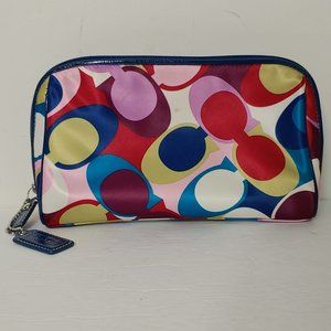Coach Mod Print Mini Bag Makeup Purse Satin